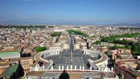 Berömda Sts Peter fyrkant i Vaticanen stock video