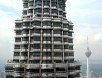 Berömda turist- dragningar i Kuala Lumpur med stadssikt Arkivfoto
