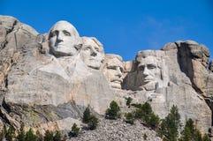Berömda USA-presidenter på Mount Rushmore den nationella monumentet som är södra Royaltyfria Foton