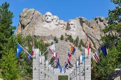 Berömda USA-presidenter på Mount Rushmore den nationella monumentet som är södra Royaltyfri Bild