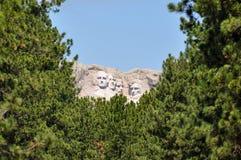 Berömda USA-presidenter på Mount Rushmore den nationella monumentet som är södra Royaltyfria Bilder