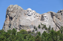 Berömda USA-presidenter på Mount Rushmore den nationella monumentet som är södra Arkivfoton