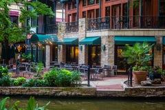 Berömda USA San Antonio River Texas Walk arkivbilder