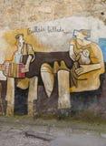 Berömda väggmålningar i Orgosolo på Sardinia Royaltyfri Fotografi