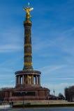 Berömda Victory Column i Berlin Royaltyfri Foto