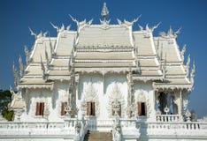 Berömda Wat Rong Khun Arkivfoton