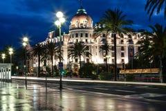 Berömdt hotell Negresco i Nice, Frankrike Fotografering för Bildbyråer