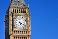 berömdt london ben för stor klocka torn uk Arkivfoto
