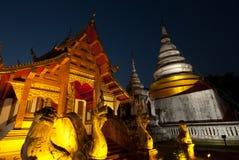 berömdt norr tempel thailand Arkivfoton
