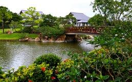 berömdt trädgårds- japanskt traditionellt Fotografering för Bildbyråer