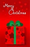 Berömmar för glad jul Arkivbild