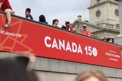 Berömmar för Kanada dag 2017 i London Royaltyfria Bilder