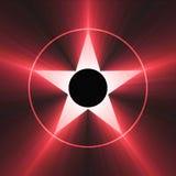 berömmelsesignalljushollywood ljusröd stjärna stock illustrationer
