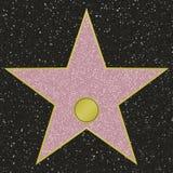 berömmelsestjärnan går Royaltyfri Illustrationer