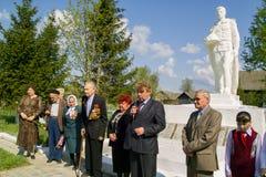 Berömmen av dagen av segern i kriget 1941-1945 i den Kaluga regionen av Ryssland Royaltyfria Foton