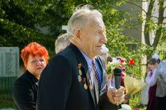 Berömmen av dagen av segern i kriget 1941-1945 i den Kaluga regionen av Ryssland Fotografering för Bildbyråer