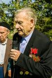 Berömmen av dagen av segern i kriget 1941-1945 i den Kaluga regionen av Ryssland Royaltyfri Fotografi