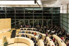 Berömmen av Schleswig-Holstein Landtag arkivfoto