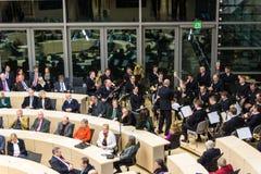 Berömmen av Schleswig-Holstein Landtag royaltyfria foton