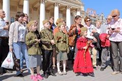 Berömmen av segerdagen i Moscow. Royaltyfria Foton