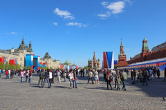 Berömmen av segerdagen i Moscow. Royaltyfri Foto
