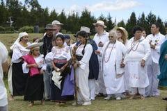 Berömmen av solståndet, ferie Inti Raymi Royaltyfria Bilder