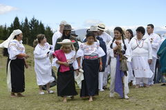 Berömmen av solståndet, ferie Inti Raymi Arkivfoto
