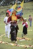 Berömmen av solståndet, ferie Inti Raymi arkivbilder