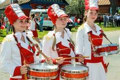 Berömmen av Victory Day i världskrig 2 kan 9, 2016, i den Gomel regionen av Republiken Vitryssland Arkivfoto