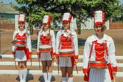Berömmen av Victory Day i världskrig 2 kan 9, 2016, i den Gomel regionen av Republiken Vitryssland Royaltyfria Foton