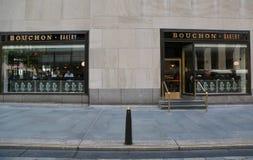Berömt Bouchon bageri av Michelin Star Chef Thomas Keller i midtownen Manhattan Royaltyfri Foto