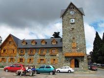 Berömt centrum av Bariloche, Argentina arkivbild