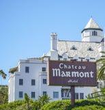 Berömt ChateauMarmont hotell i Los Angeles - LOS ANGELES - KALIFORNIEN - APRIL 20, 2017 Arkivbilder