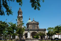 Berömt den Manila domkyrkan royaltyfria foton
