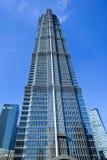 Berömt Jinmao torn på Pudong, Shanghai, Kina royaltyfria bilder
