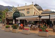 Berömt kafé de Paris i Monte - carlo, Monaco Arkivbilder