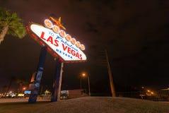 Berömt Las Vegas tecken Arkivbild