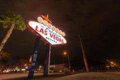 Berömt Las Vegas tecken Arkivfoton