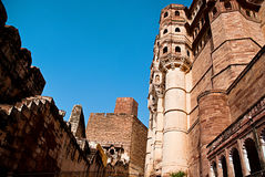 Berömt Mehrangarh fort i Jodhpur, Indien Arkivbild