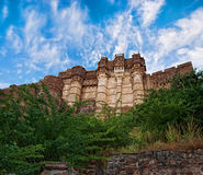 Berömt Mehrangarh fort i Jodhpur, Indien Fotografering för Bildbyråer