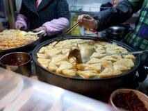 Berömt mellanmål i den Nanjing fuzimiaoen Fotografering för Bildbyråer