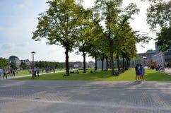 Berömt parkera i Amsterdam arkivfoton