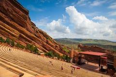 Berömt rött vaggar amfiteatern i Morrison Arkivbild