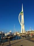 Berömt spinnakertorn Portsmouth, England för värld Fotografering för Bildbyråer