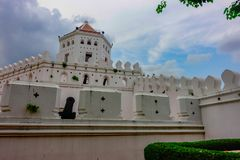 Berömt ställe i Thailand ( Phrasumen fort royaltyfri bild