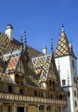 Berömt tak för färgrik beaune klosterhärbärge Royaltyfri Bild