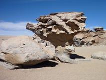 Berömt vagga bildande arbol de piedra i bolivian altiplanoöken Royaltyfria Bilder