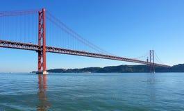 Berühmte alte Brücke über Fluss Tejo Lizenzfreie Stockfotografie