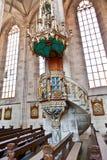 Berühmte alte Kirche St George in der mittelalterlichen Stadt von Dinkelsbuehl herein Lizenzfreies Stockbild