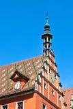 Berühmte alte romantische mittelalterliche Stadt Stockbild